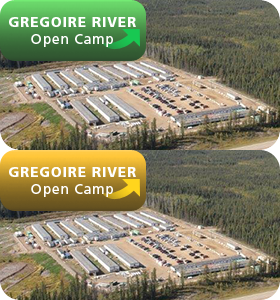 Gregoire River Open Camp - Button
